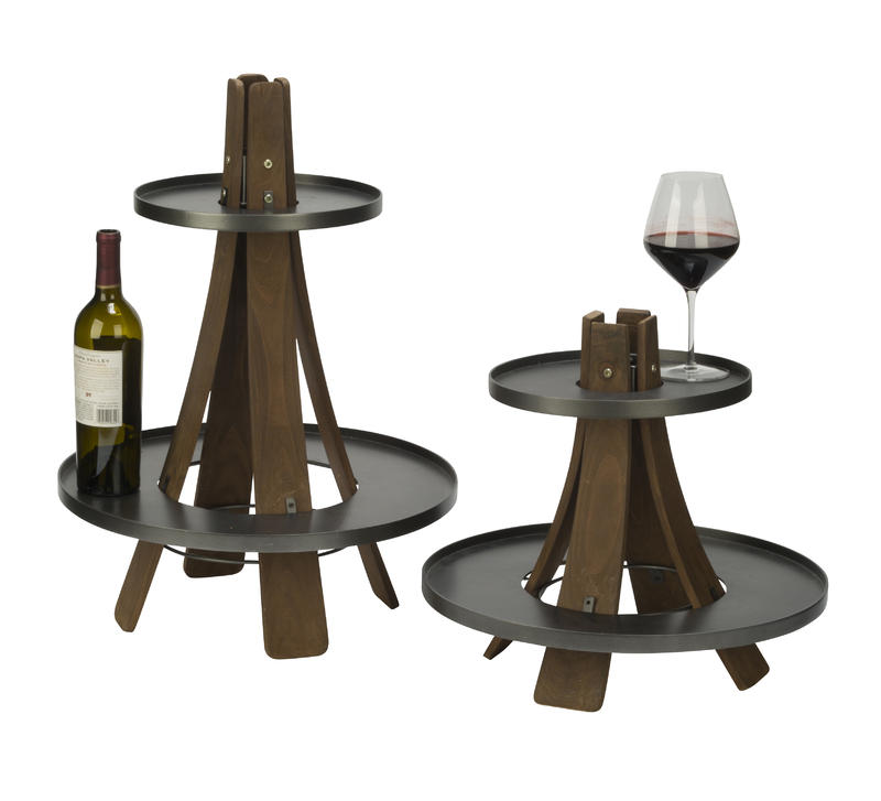 Vineyard Two Tier Tree Display, Set of 2