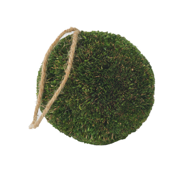 Natural Topiary Ball w/ Hanging String (Small)