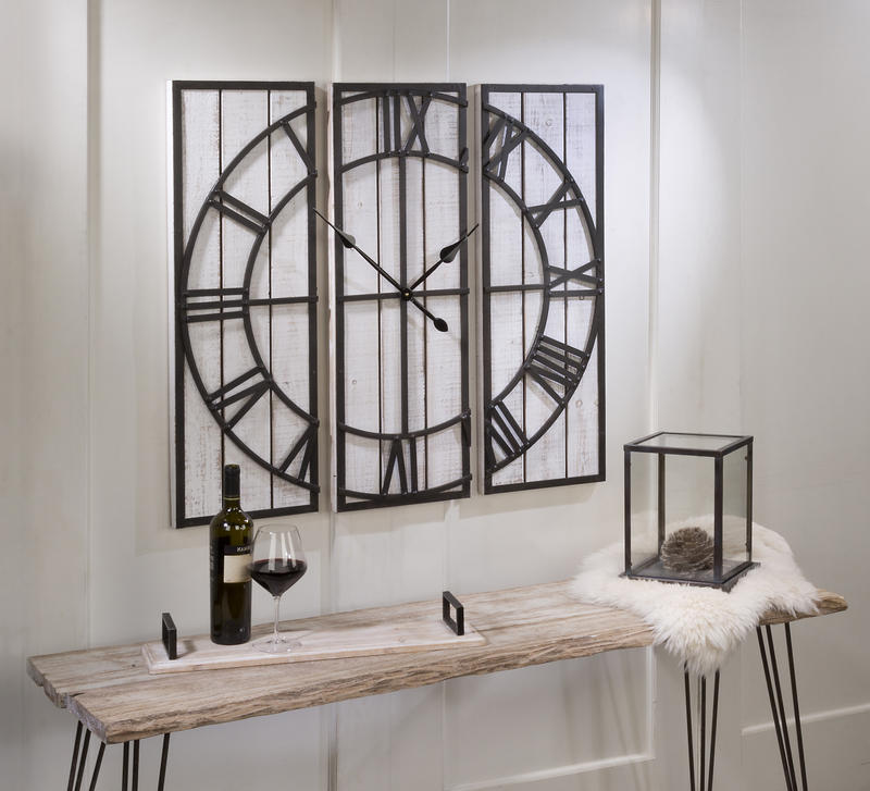 Functional Wall Hanging Clock - 3 Piece
