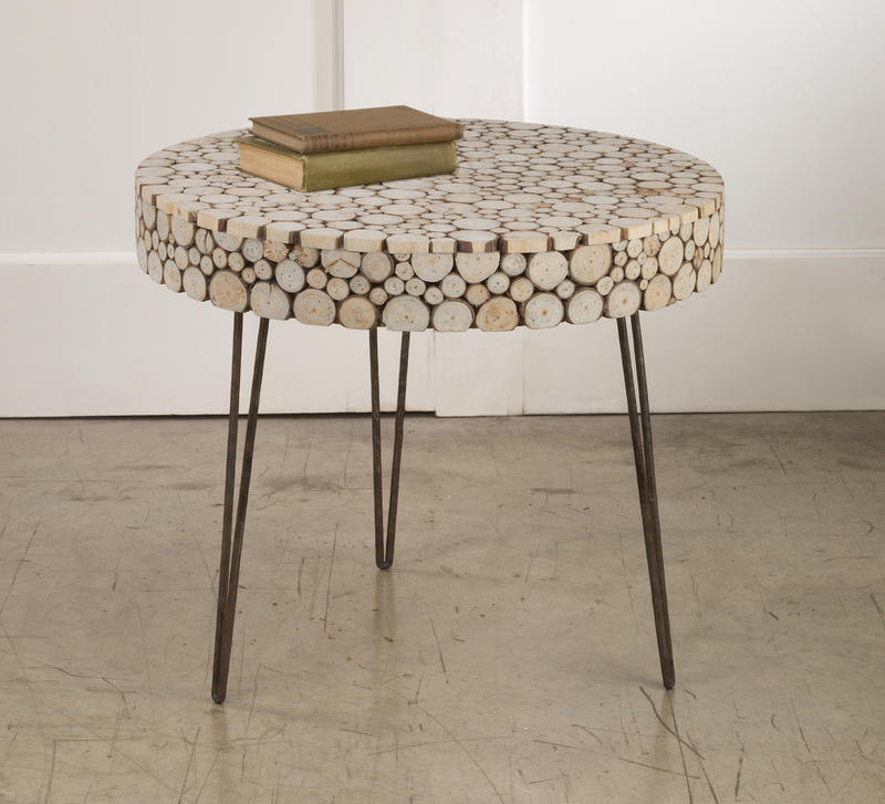 Round Wood Slice Low Table