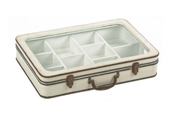 Jewelry Suitcase Display - Brown