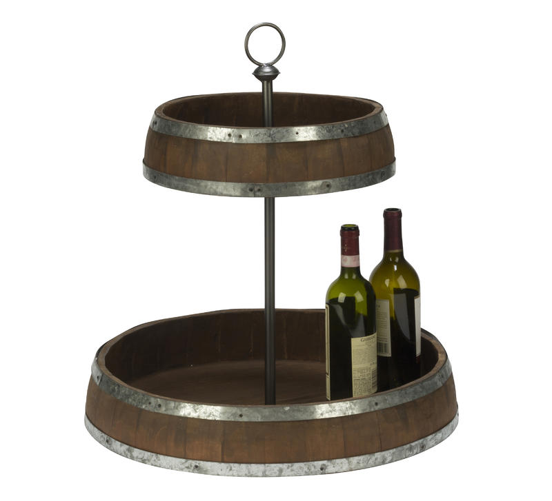 Vineyard Double Tray Pedestal Stand