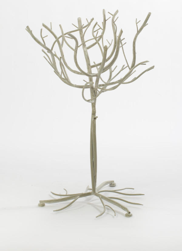 Small White Natural Metal Tree