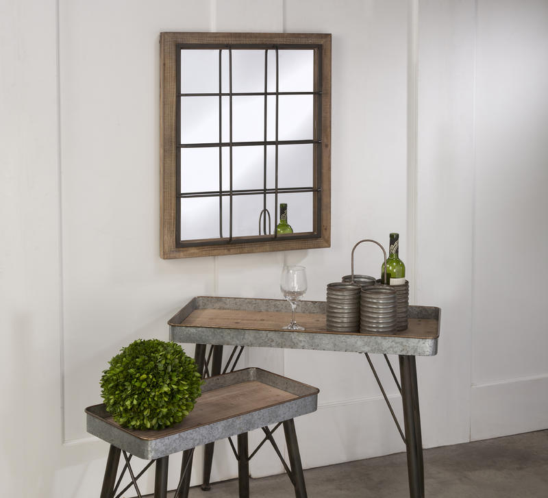 Rustic Grate Wall Mirror