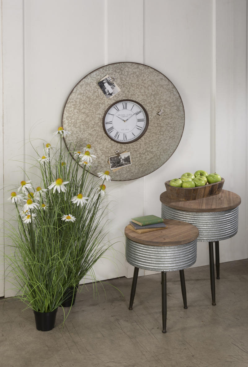 Functional Metal Wall Clock with Magnets