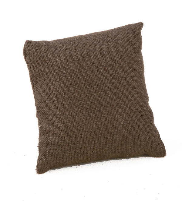 Chocolate Jute Watch Display Pillow
