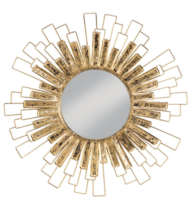 Gold Foil Sunburst Wall Mirror