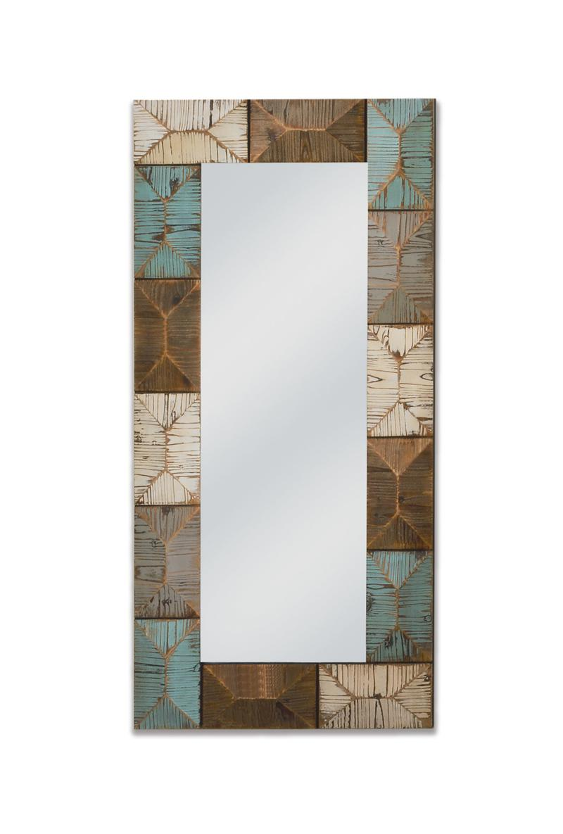 Rectangular Geometric Decorative Wall Mirror