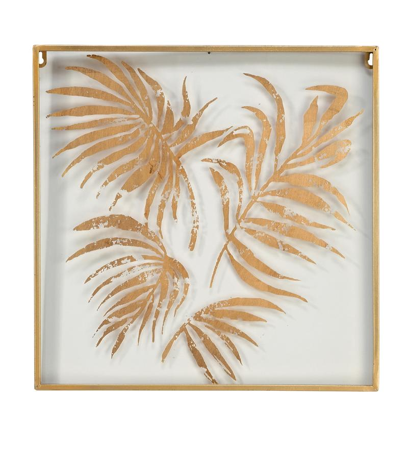 Gold Palm Square Wall Decor