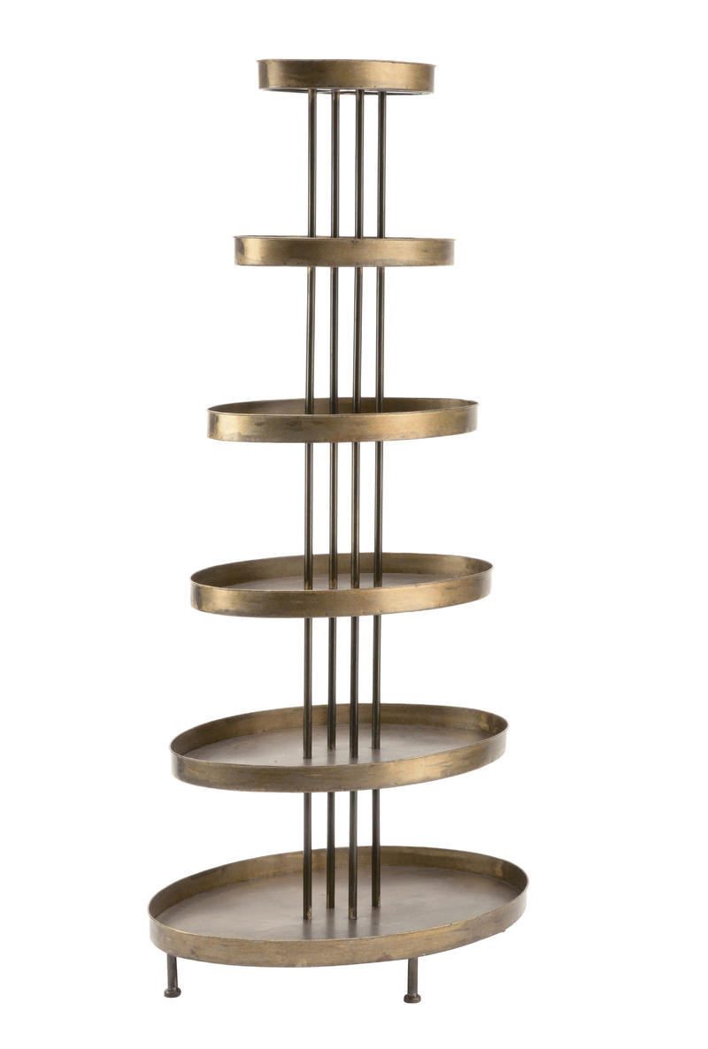 6 Tier Oval Display Tower Shelf