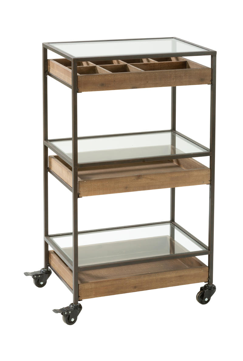 3 Tier Rolling Display Cart