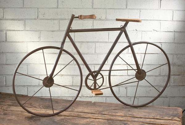 Metal/Wood Bicycle Wall Art