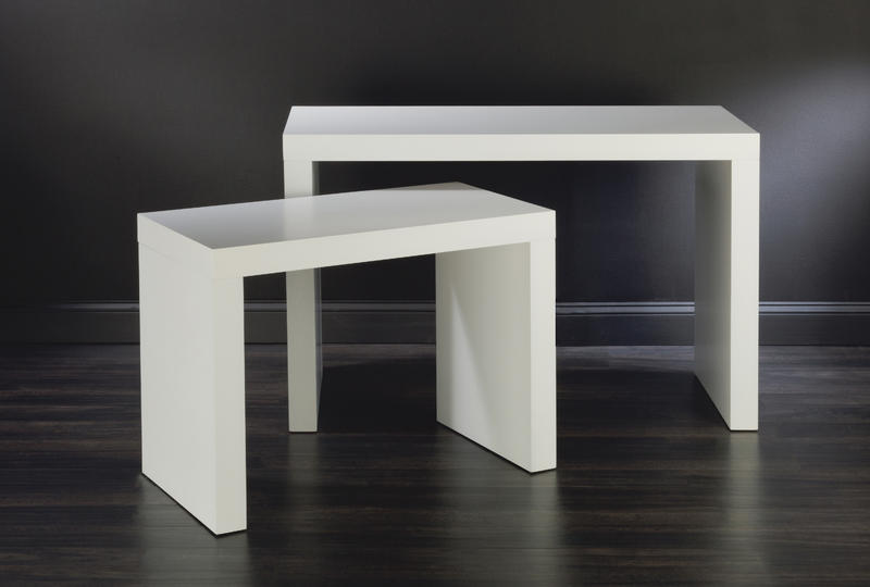 Modern White Wood Table