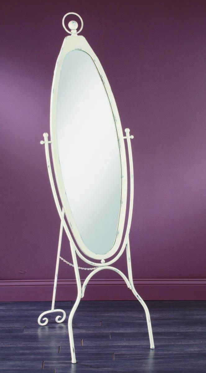 White Oval Floor Mirror Tripar International Inc