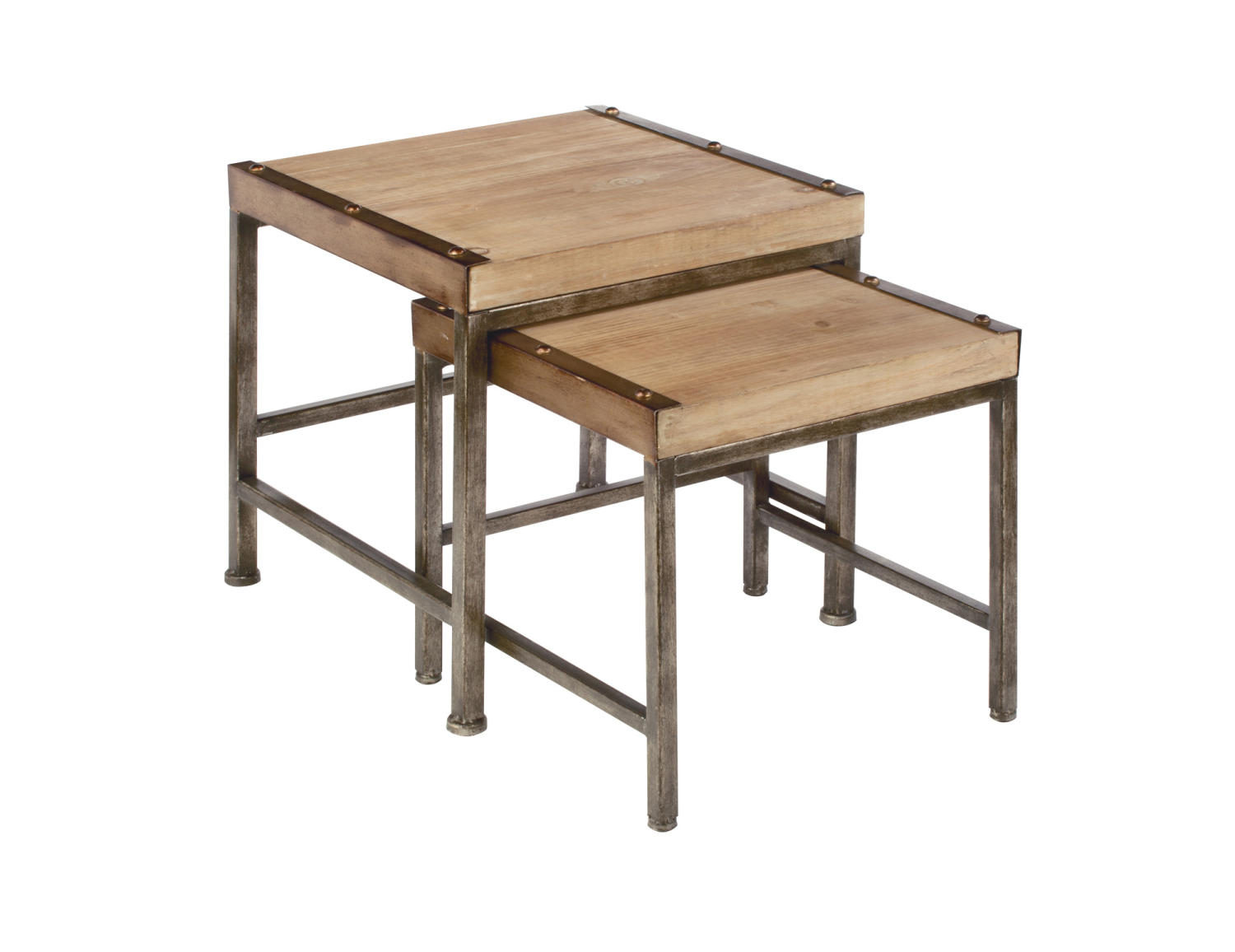 Industrial Nesting Side Tables - Set of 2 - Tripar International, Inc.