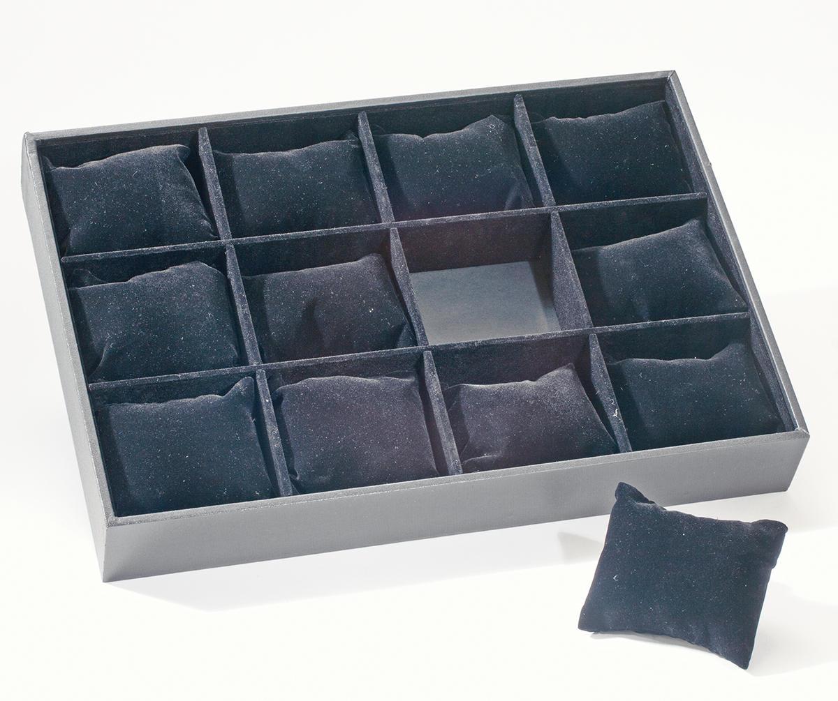 Black Velvet 12 Pillow Jewelry Display Box Tripar International Inc