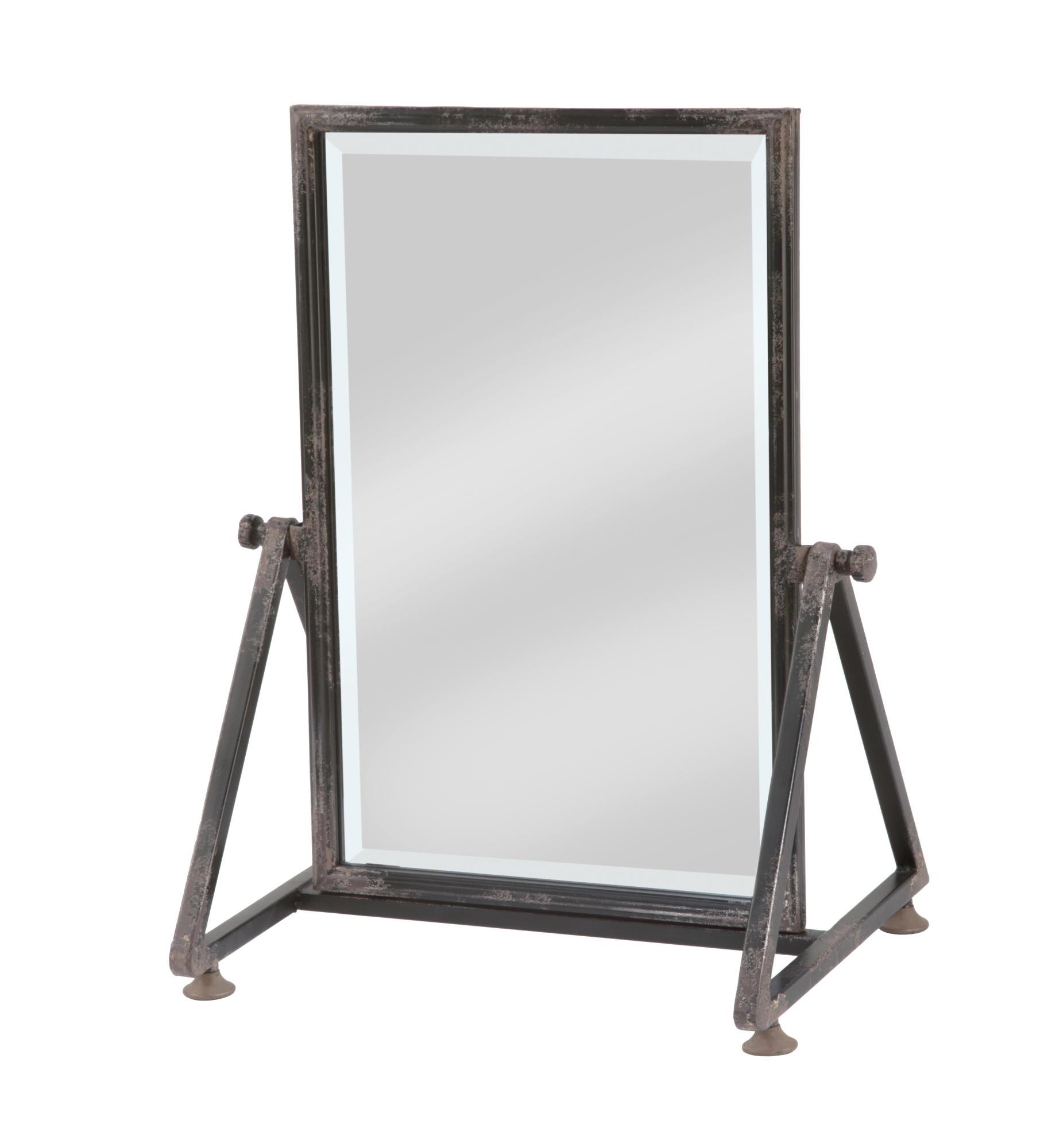 Large Metal Frame Tabletop Floor Mirror