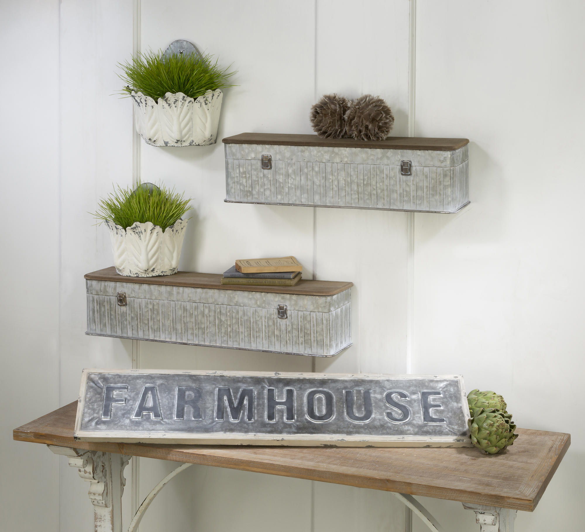 Farmhouse wall decor tripar international inc for Decor international inc