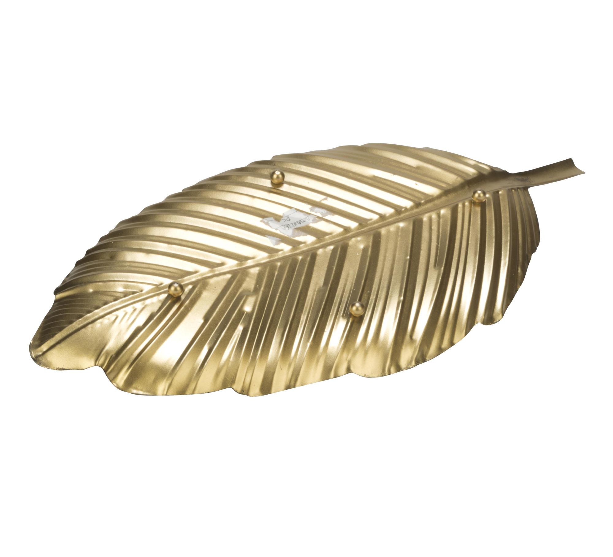 Decorative Metal Leaf Brushed Gold Tripar International Inc