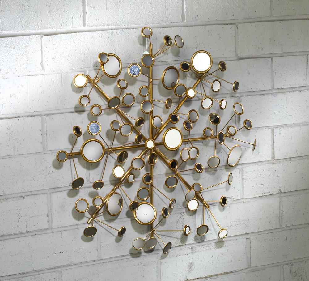Snowflake Multi Facet Mirror Wall Art Tripar