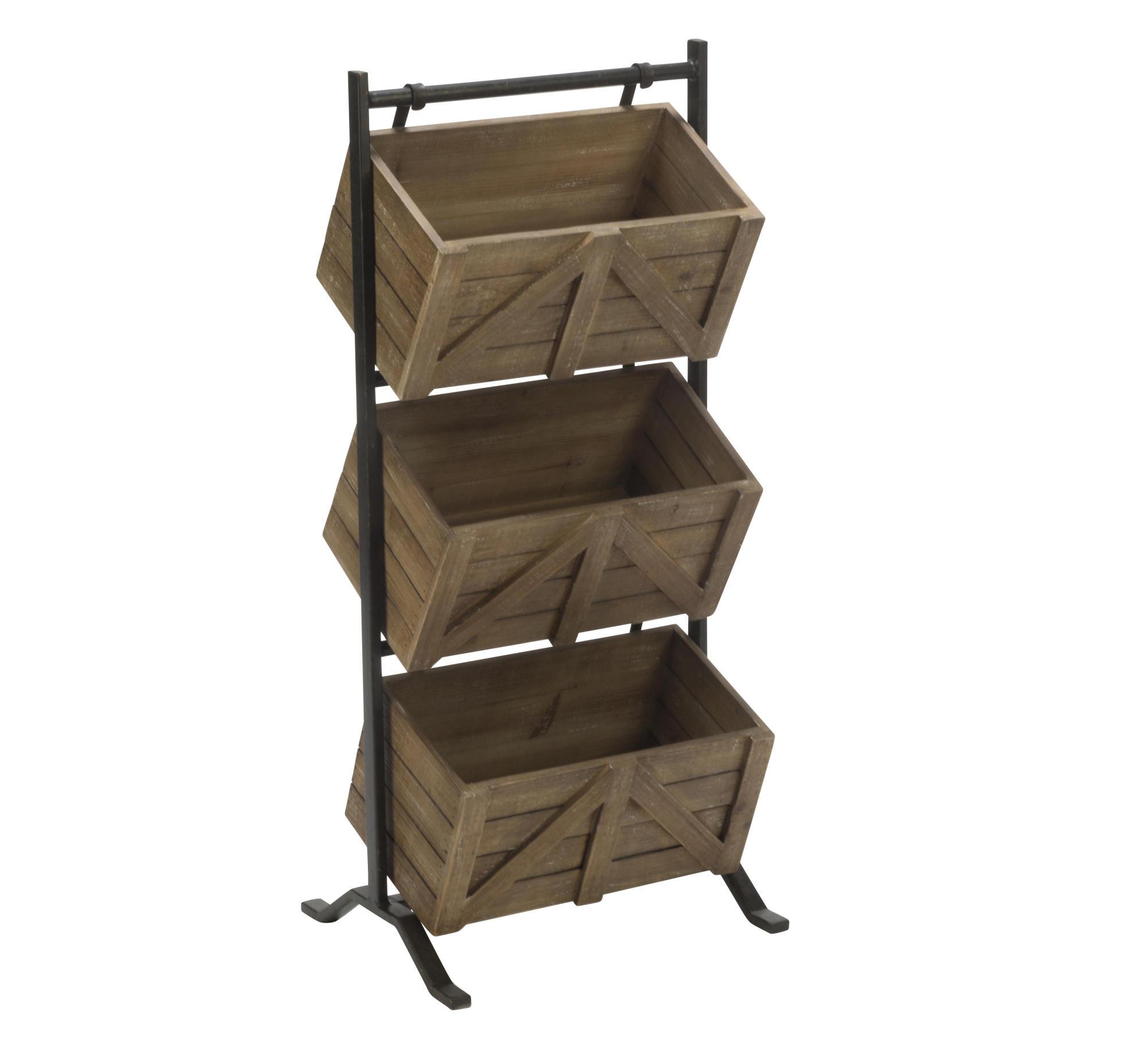 Preferred 3 Tier Wooden Crate Stand - Tripar International, Inc. KO79