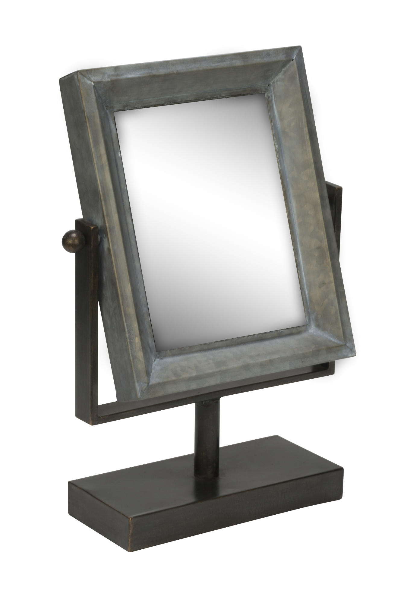 Tin Frame Table Top Mirror