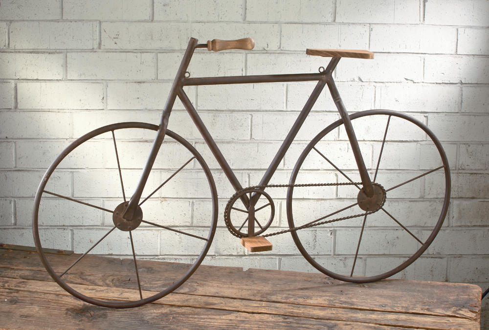Attirant Metal/Wood Bicycle Wall Art